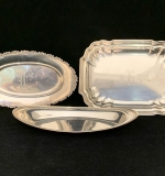 186. Three Sterling Silver Serving Dishes |  $480