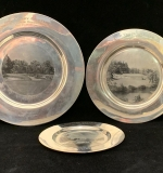 200. Three Sterling Silver Golf Award Plates |  $510