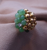 215. Jade Grape Cluster Ring in 18K Yellow Gold |  $450