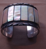 221. Silver Cuff Bracelet with Mother Of Pearl |  $96