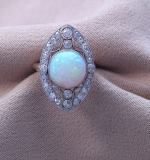 231. Opal & Diamond Ring in 14K Yellow Gold & Platinum |  $2,280
