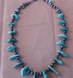 241. Silver and Turquoise Necklace |  $187.50