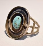 246A. Sterling and Turquoise Cuff Bracelet |  $150