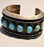 246B. Sterling and Turquoise Cuff Bracelet |  $120