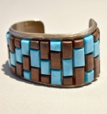 246C. Sterling and Turquoise Cuff Bracelet |  $120