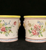 283. Pair of French Porcelain Cache Pots |  $96