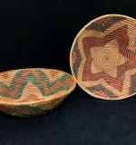 285. Two Native American Coiled Bowls with Star Motifs |  $75