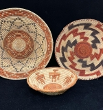 286. Three Native American Coiled Bowls |  $187.50