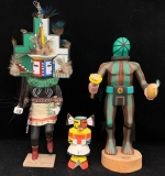 287. Three Native American Carved & Painted Kachinas |  $72