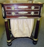 Isaac Vose (Boston, MA) rosewood sewing stand. $56,350
