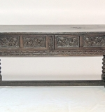 Jacobean Oak and Walnut Refectory Table. $3,388