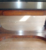 Empire Console Table with black marble top and mirrored base. $16,520