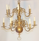 Antique Dutch Brass Chandelier. $2,006