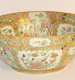 Chinese Export Rose Medallion Punch Bowl. $1,888