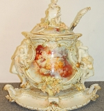 KPM Porcelain Tureen with Underplate and Ladle. $37,760