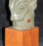 Rare Chinese Archaic Bronze Dbl-sided Pole Finial. $40,120