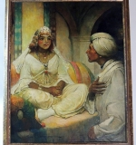 Frank Earle Schoonover (Delaware 1877-1972). Oil/canvas, The Marriage in Kairwan. $21,240