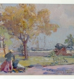 Colin Campbell Cooper, Gouache of O\'Neill House. $6,050
