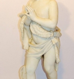 Domenico Menconi Carved Marble Statue, 1860. Child praying. $8,260