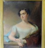 Thomas Sully Oil/Canvas, Portrait of Mrs. J. Burk. $5,900