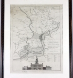 Rare 18th C. plan of Philadelphia and environs by WM Faden of London. $5,428