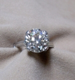 Diamond Ring set in 14K white gold; apx. 4.70ct twd. $28,320.00