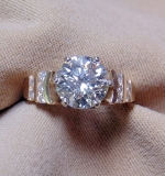 Apx. 3.30ct Diamond Engagement Ring set in 14K Yellow Gold. $12,980.00