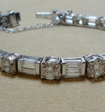 Diamond tennis bracelet set in platinum. Apx. 10.0cts TWD. $11,800