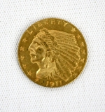 1911D 2-1/2 Dollar Gold Piece, VF. $11,800