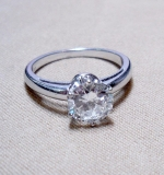 Diamond Engagement Ring set in platinum, apx. 1.30ct. $6,844.00
