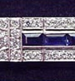 Tiffany & Co. Blue Sapphire & Diamond Bracelet. $10,010