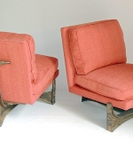 Pair of rare Paul Evans (1931-1987) Lounge Chairs, circa 1970s. $33,040