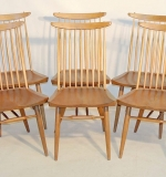 Six George Nakashima for Widdicomb walnut New Chairs. $4,598