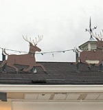 The Towne House Collection: Rooftop Santa with Reindeer. $4,600