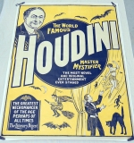 Large 4-panel Harry Houdini, The Master Mystifier color lithograph billboard. $19,360