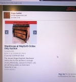 Link from our website to the online auction listing page.