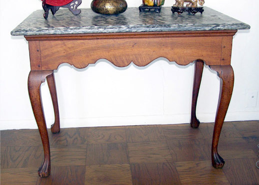 Rare & Important Philadelphia Queen Anne Mixing Table. $111,550