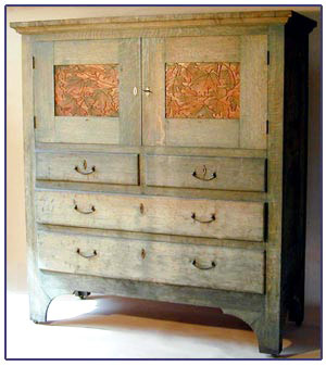 1904 Oak Byrdcliffe Arts & Crafts Cabinet. $99,000 (no buyer\'s premium)