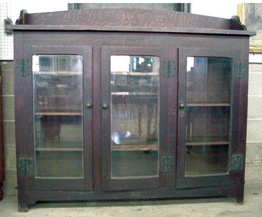 Rare, important Roycroft Arts & Crafts Bookcase. $83,600 (no buyer\'s premium)
