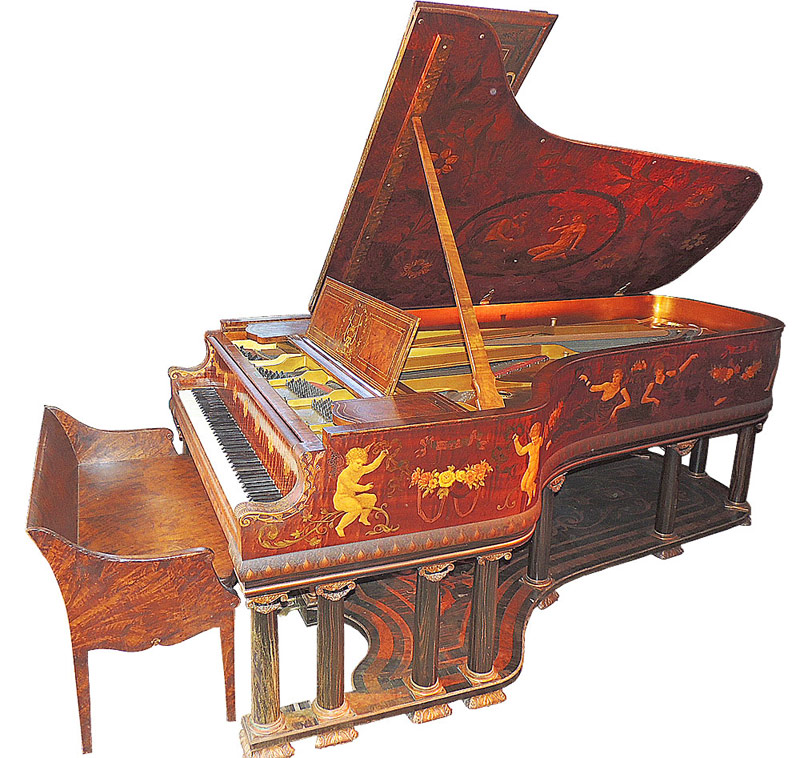 Steinway & Sons Concert Grans Piano with ornate custom decoration by Cottier & Co. $61,950