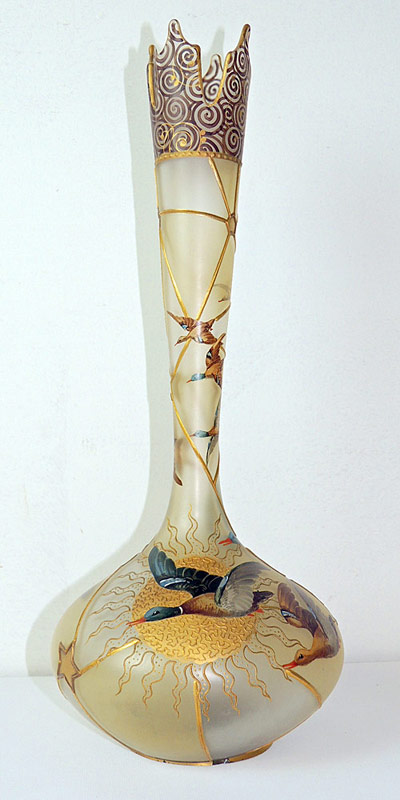Mount Washington Royal Flemish Vase. $4,840