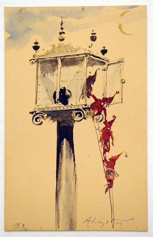 Andrew Wyeth. Watercolor Christmas card. 5-1/2 x 3-3/8 in. $16,520