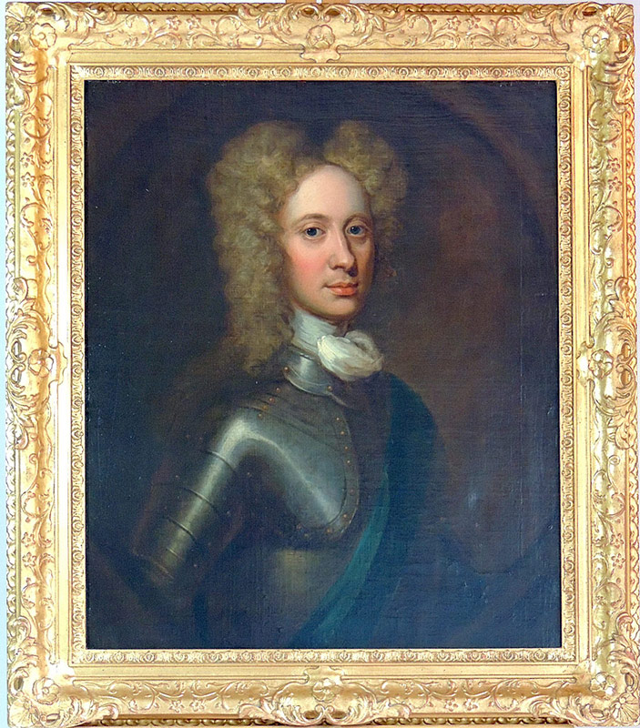 William Aikman (Attrib). O/C Portrait of John Campbell, 2nd Duke of Argyll. $10,285