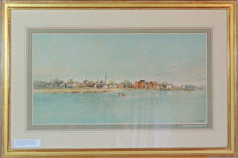 Robert Shaw. New Castle Waterfront, watercolor. Dated 1832. $9,440