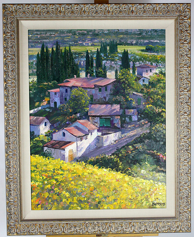 Oil/Canvas, by Howard Behrens, landscape with personal message to Pat Croce. $4,598