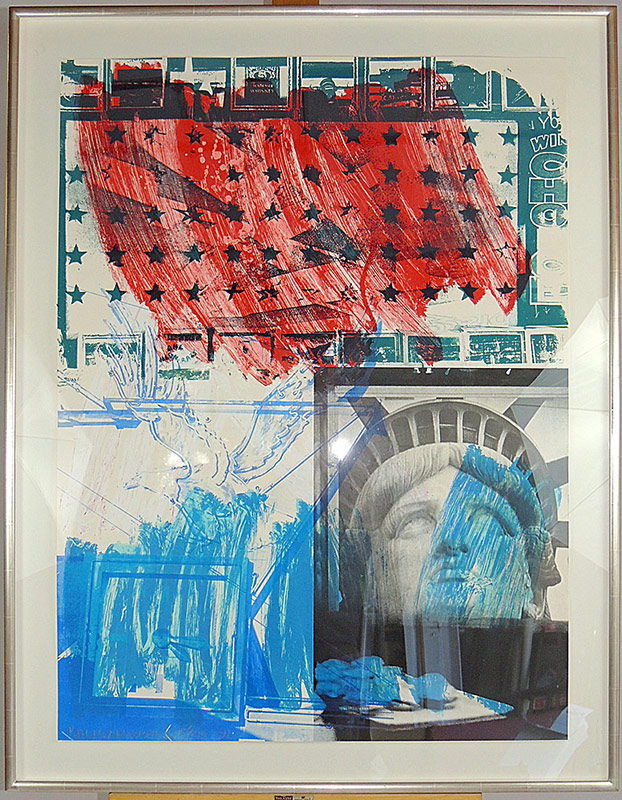 Robert Rauschenberg (New York 1925-2008). Lithograph and colored screenprint. $6,655