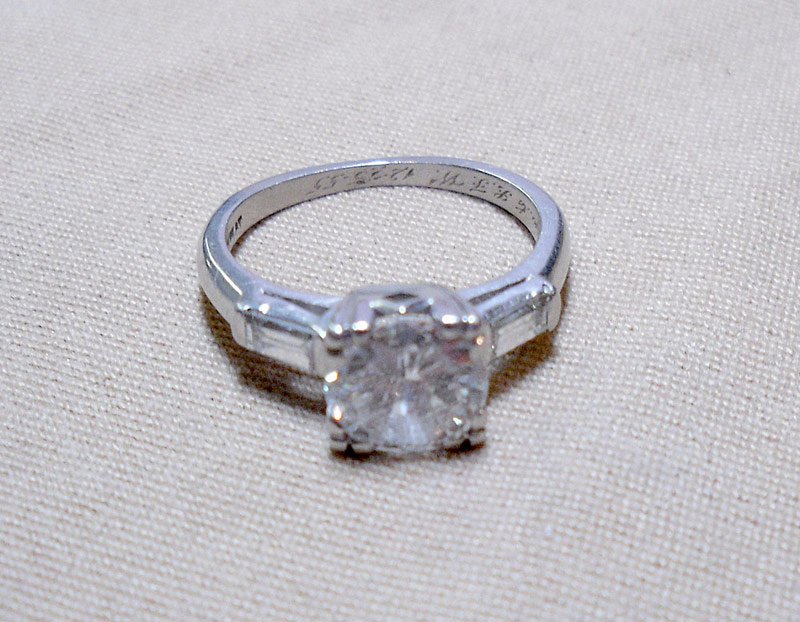 Diamond Engagement Ring in Platinum Setting. Apx. 1.50 ct . $4,248.00