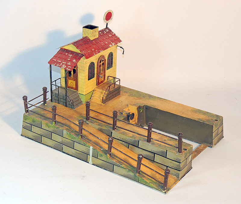 Painted-Tin Train Platform. $9,775