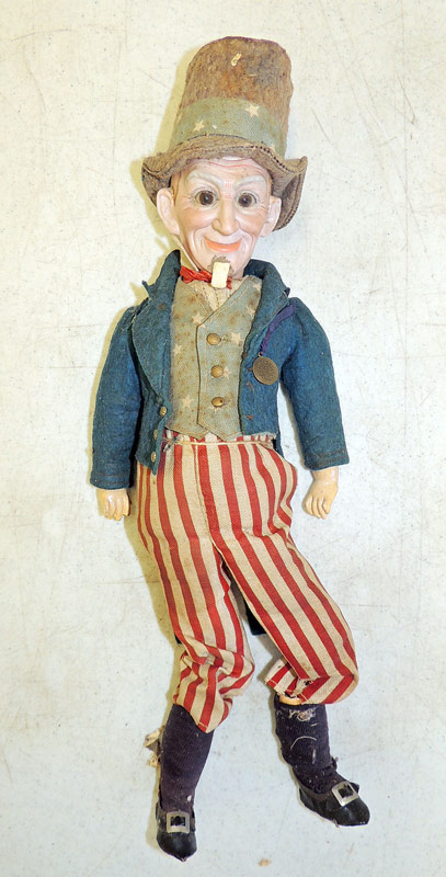 Rare Dressel bisque-head Uncle Sam Doll. $1,092