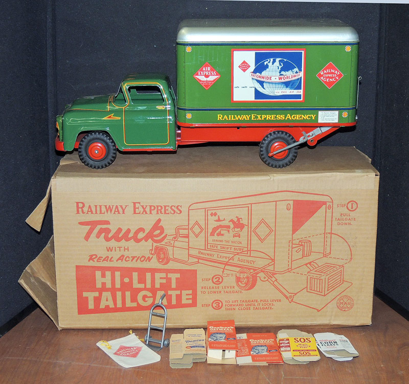 Marx pressed-steel Railway Express truck with original box. $718